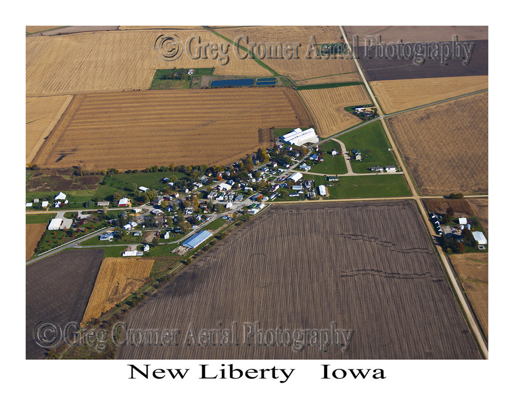 Aerial Photo of New Liberty Iowa