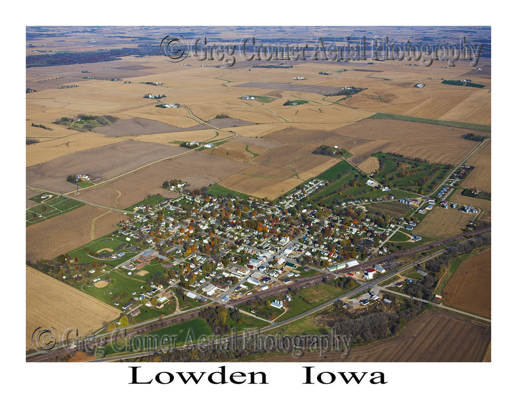 Aerial Photo of Lowden Iowa