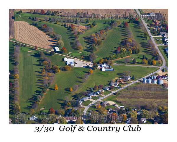 Aerial Photo of 330 Country Club - Lowden, Iowa