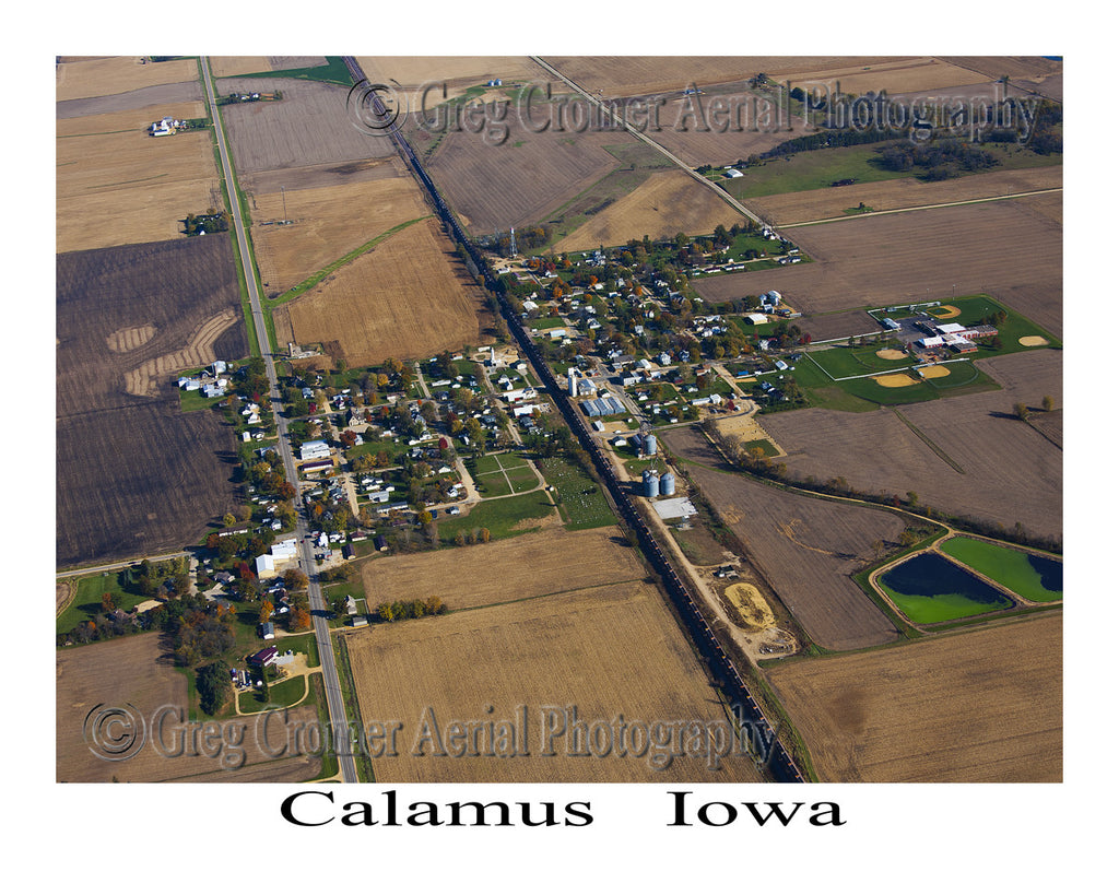 Aerial Photo of Calamus Iowa