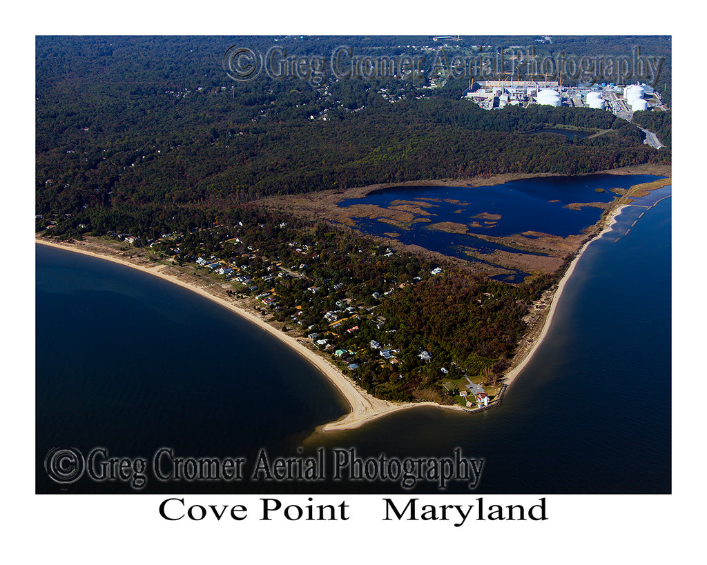 Aerial Photo of Cove Point, Maryland