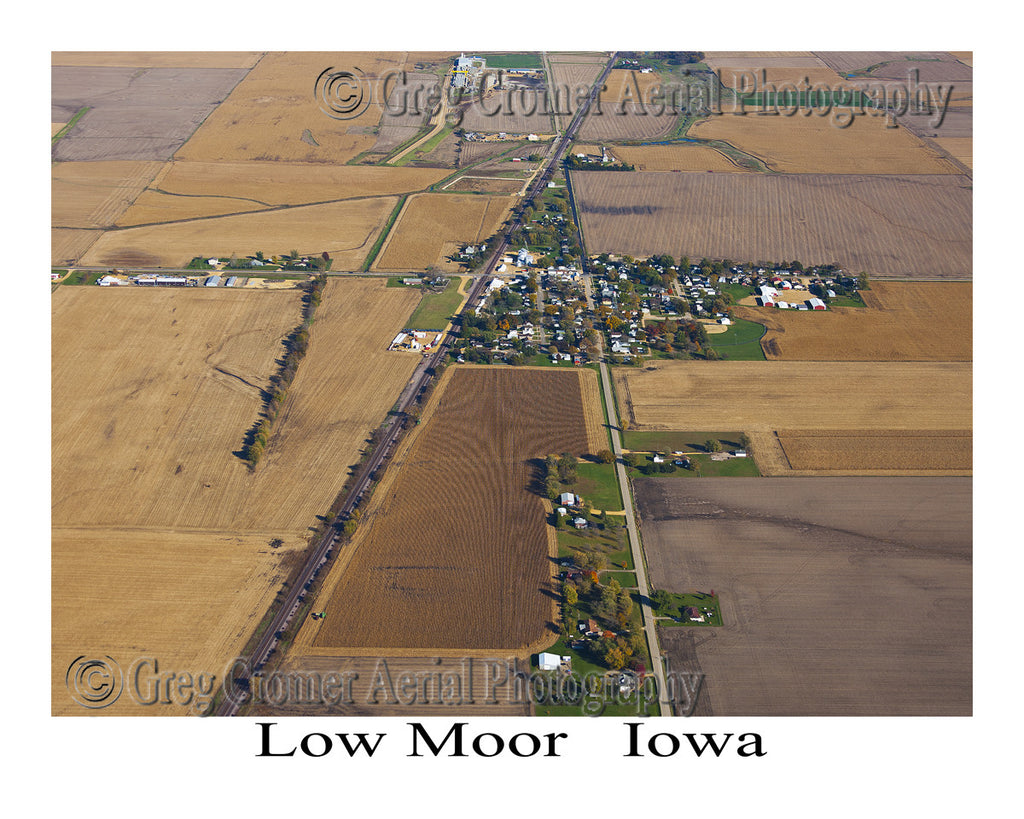 Aerial Photo of Low Moor Iowa