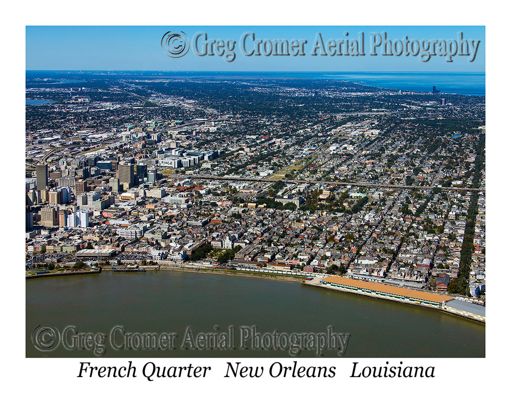 Aerial Photo of French Quarter, New Orleans, Louisiana