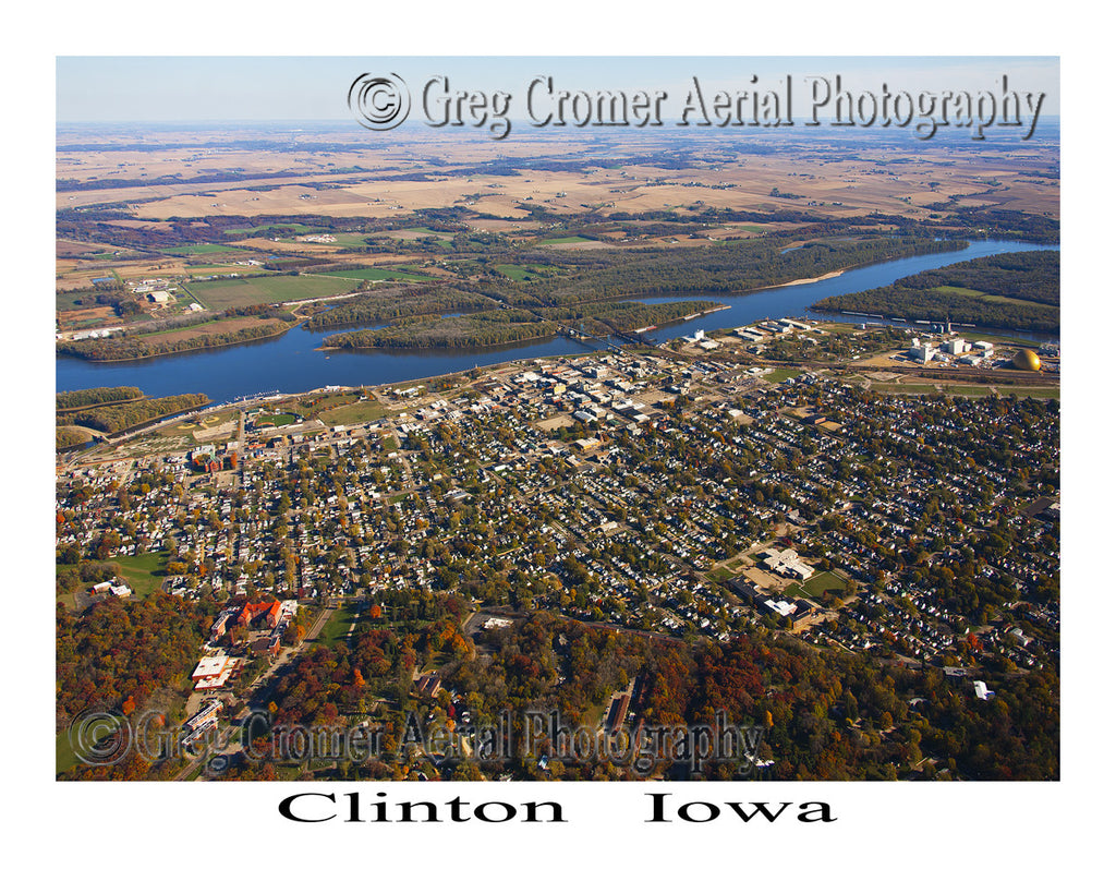 IMG3615 - Aerial Photo of Clinton Iowa