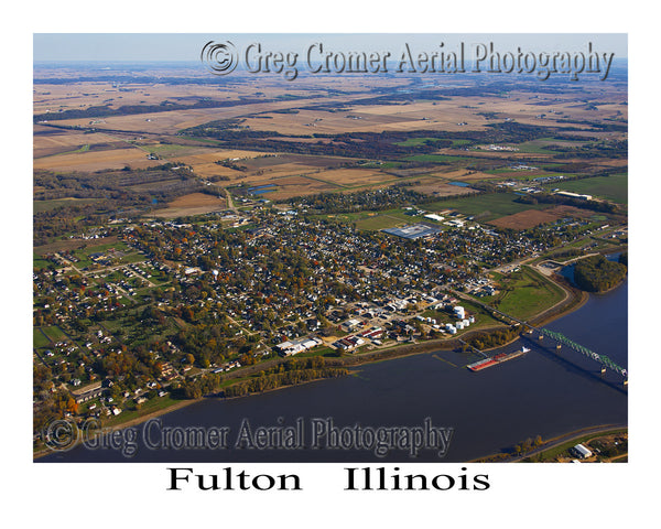 Aerial Photo of Fulton, Illinois