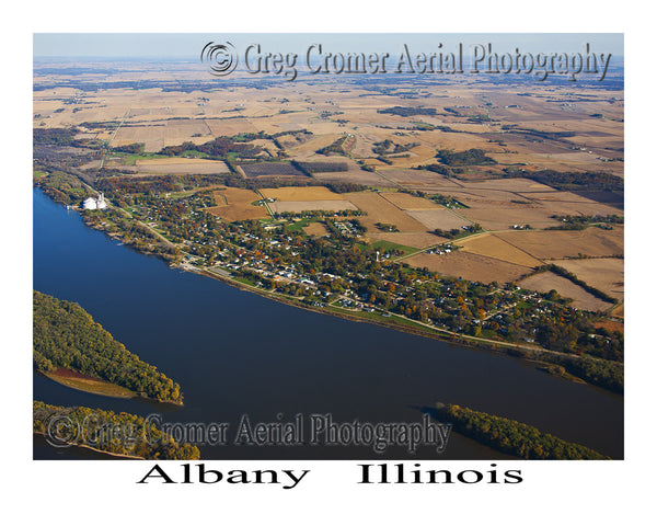 Aerial Photo of Albany, Illinois