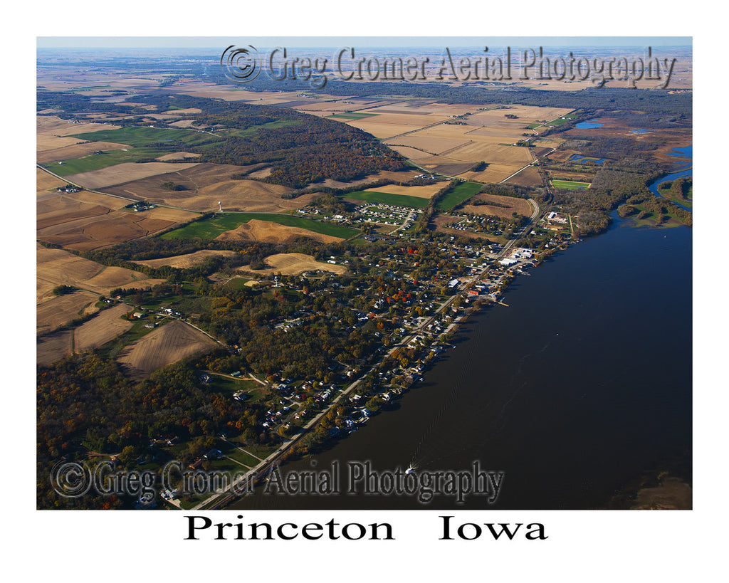 Aerial Photo of Princeton Iowa