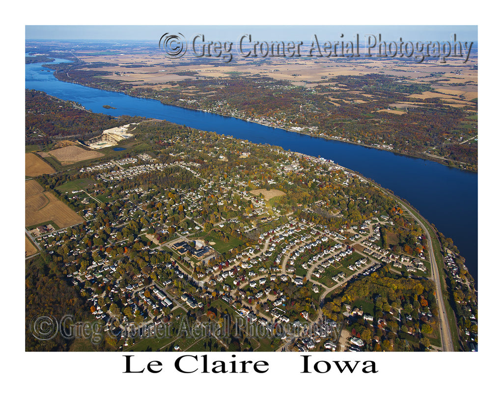 Aerial Photo of Le Claire Iowa