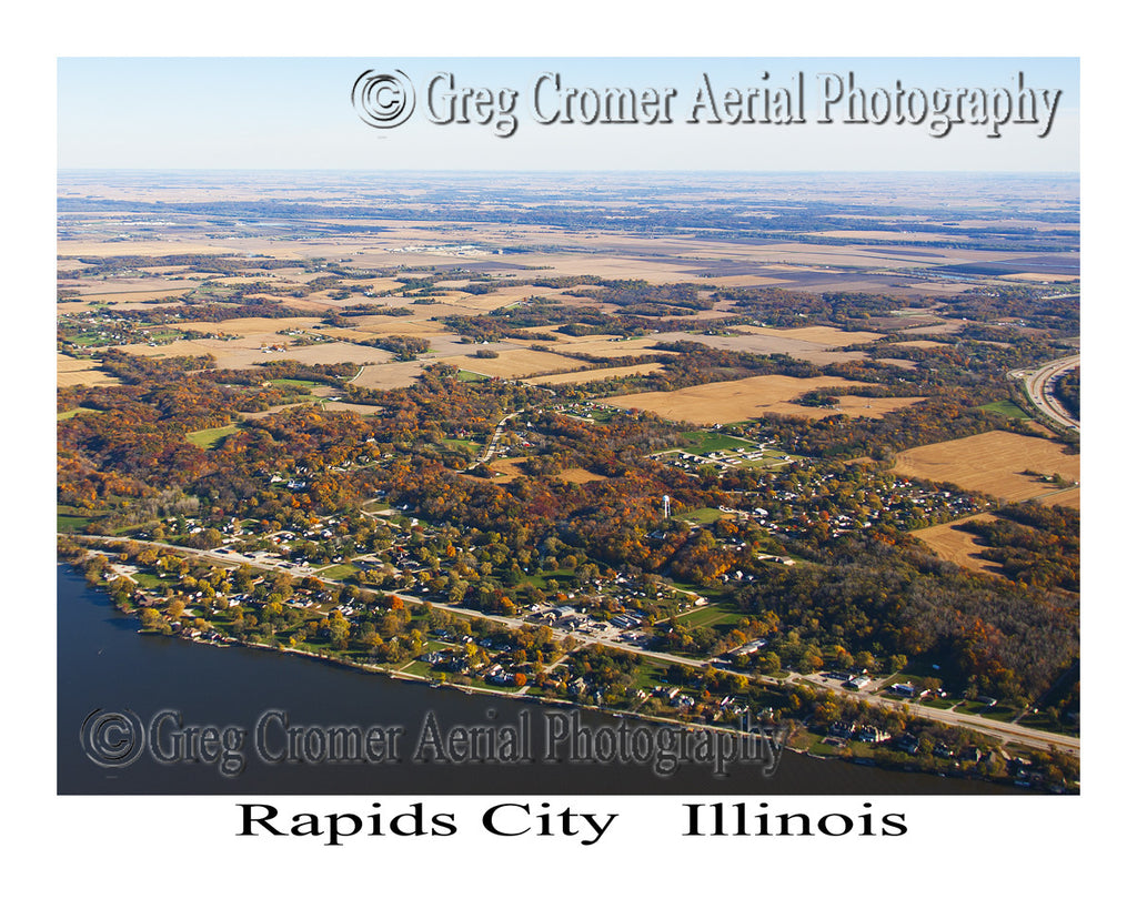 Aerial Photo of Rapids City, Illinois