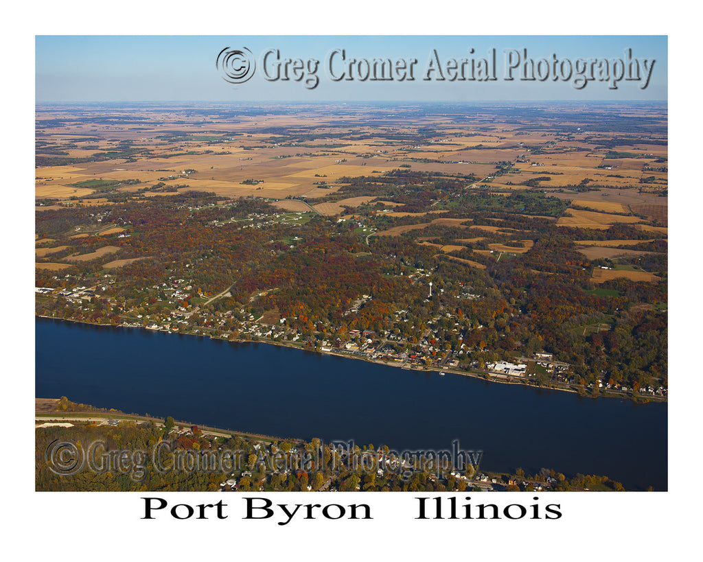 Aerial Photo of Port Byron, Illinois
