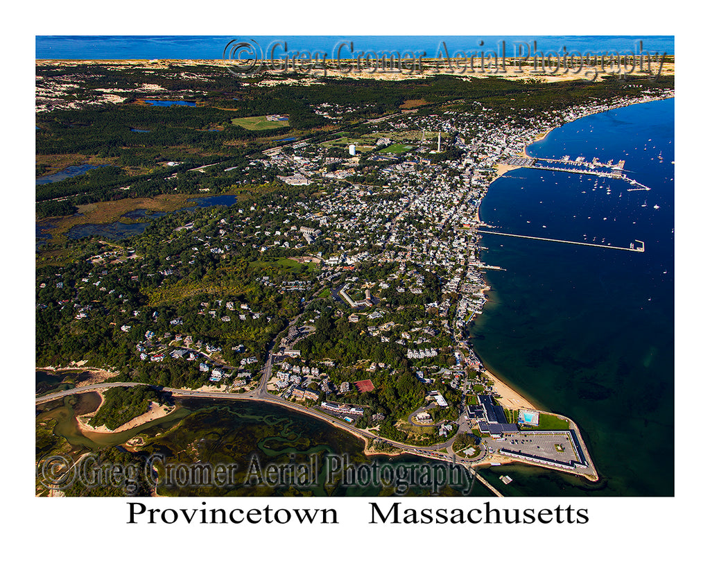 Aerial Photo of Provincetown, Massachusetts