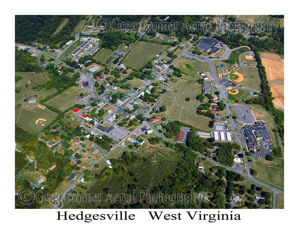 Aerial Photo of Hedgesville, West Virginia