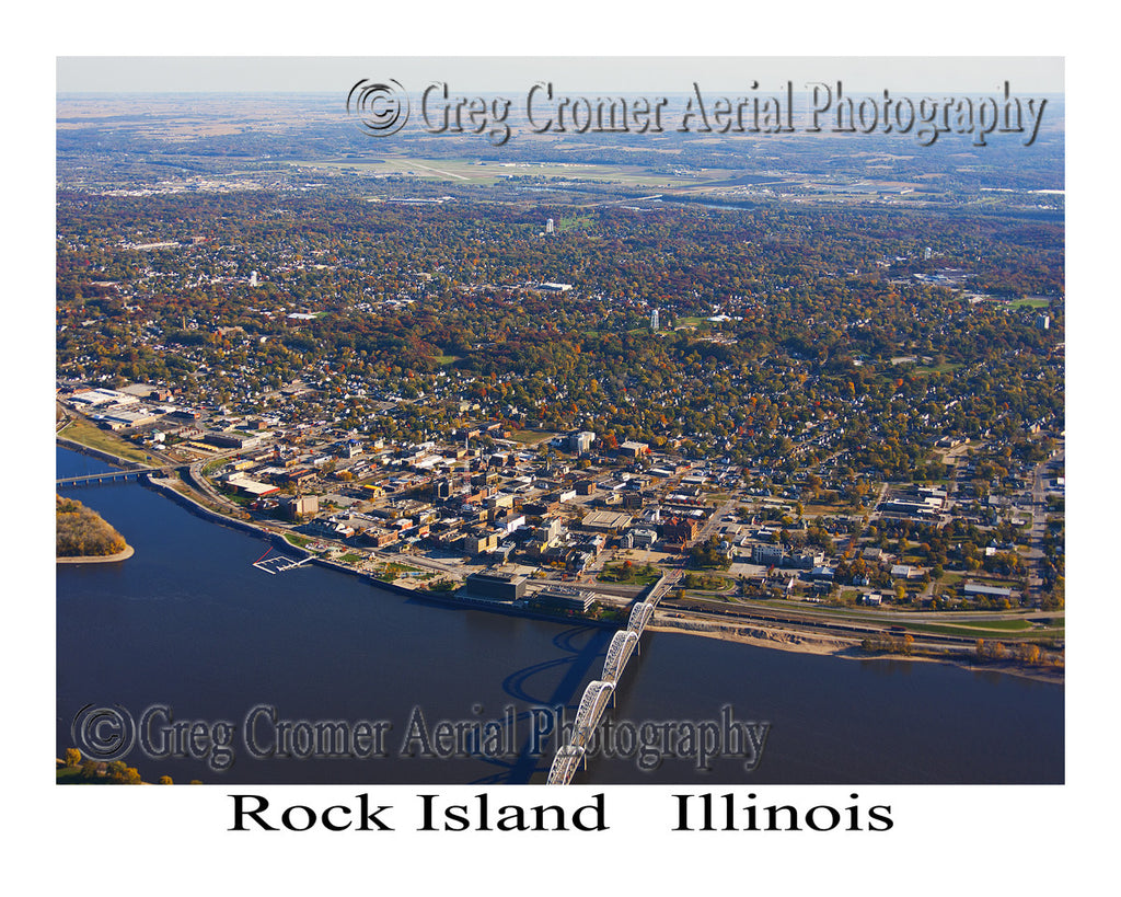 Aerial Photo of Rock Island, Illinois