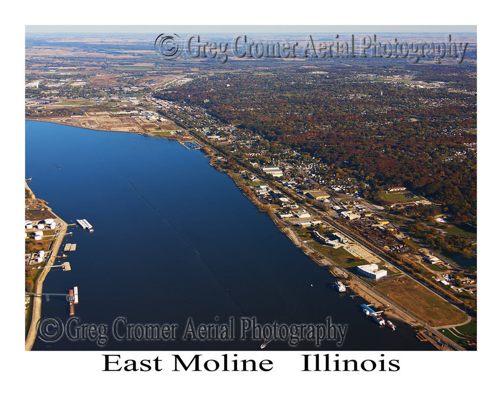 Aerial Photo of East Moline, Illinois