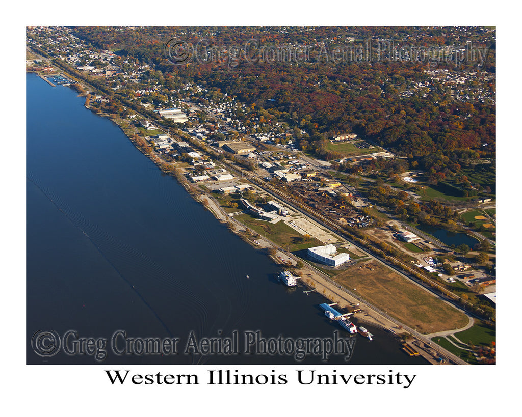 Aerial Photo of Western Illinois University - East Moline, Illinois