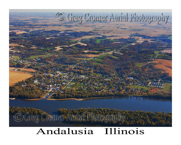 Aerial Photo of Andalusia, Illinois