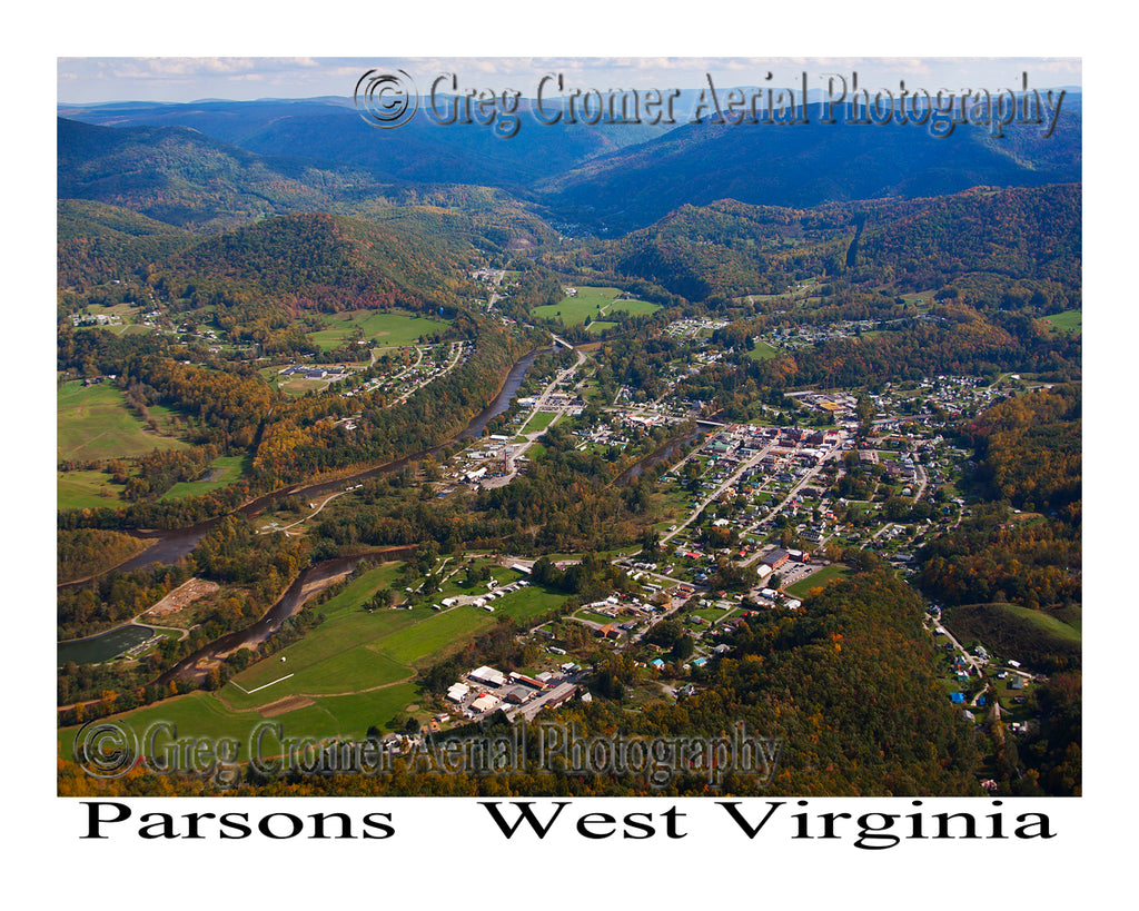 Aerial Photo of Parsons, West Virginia