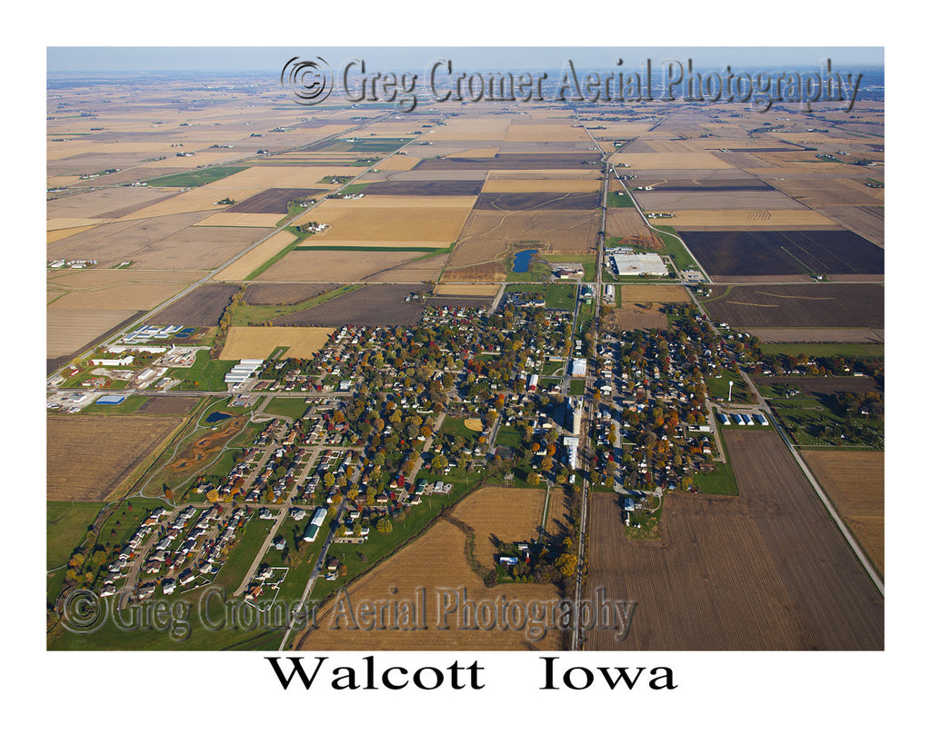 Aerial Photo of Walcott Iowa