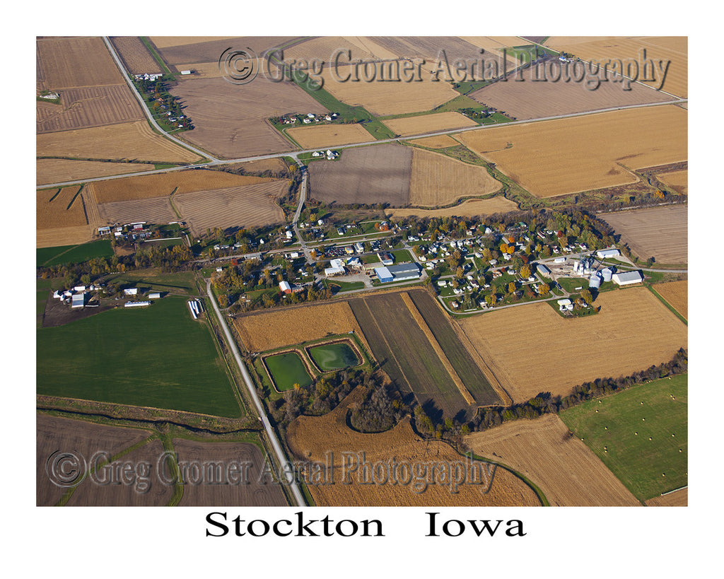 Aerial Photo of Stockton Iowa