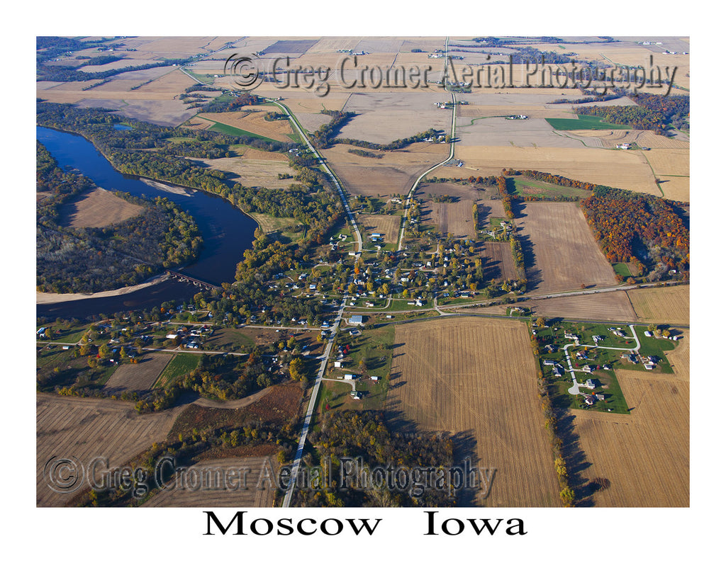 Aerial Photo of Moscow Iowa