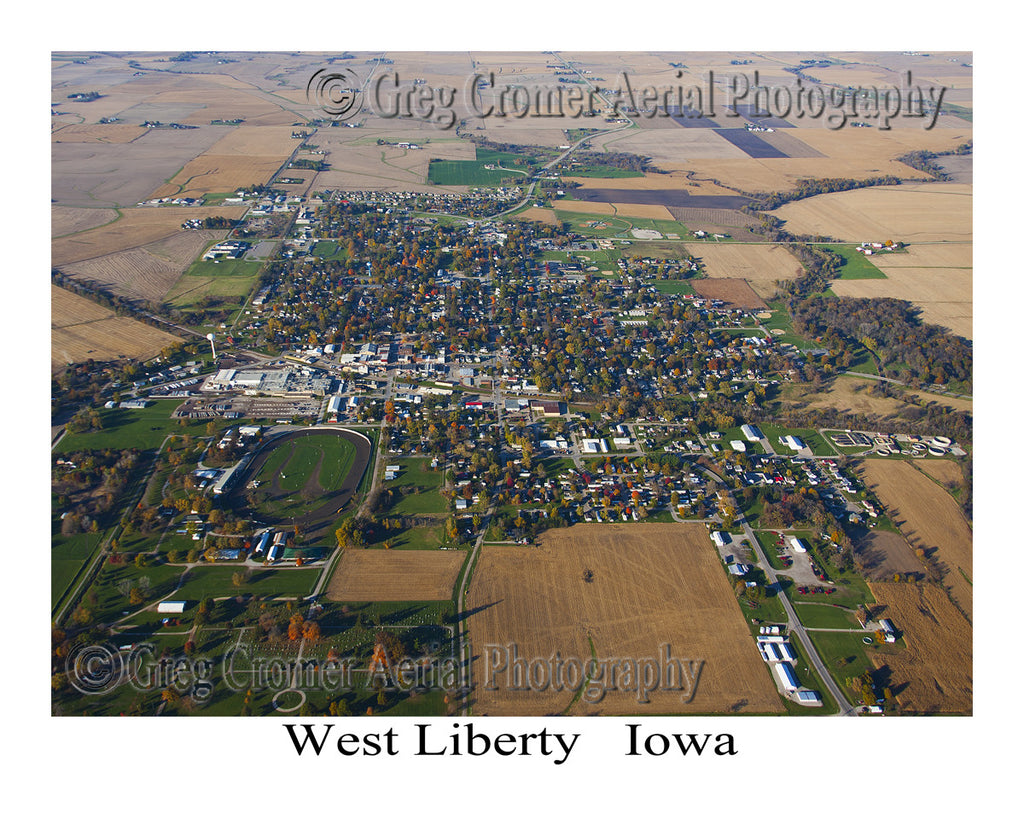 Aerial Photo of West Liberty Iowa