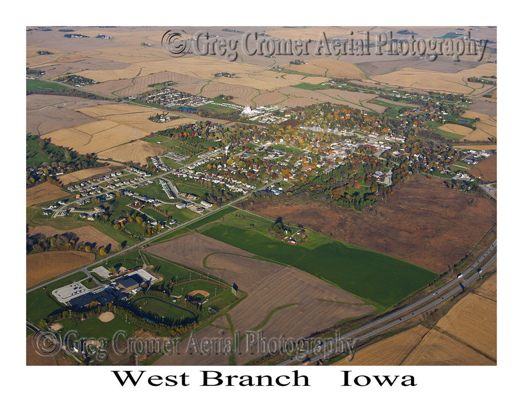 Aerial Photo of West Branch Iowa