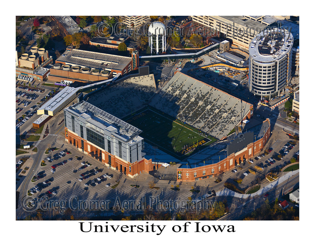 Aerial Photo of University of Iowa Stadium