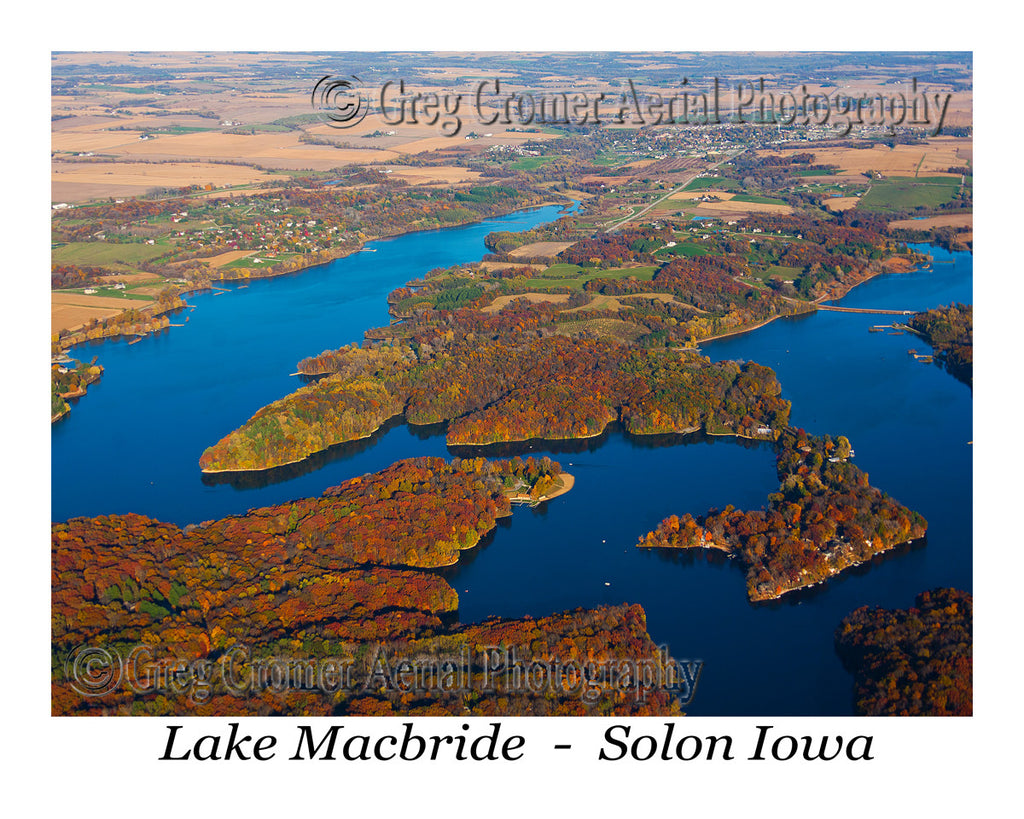 Aerial Photo of Lake Macbride Iowa