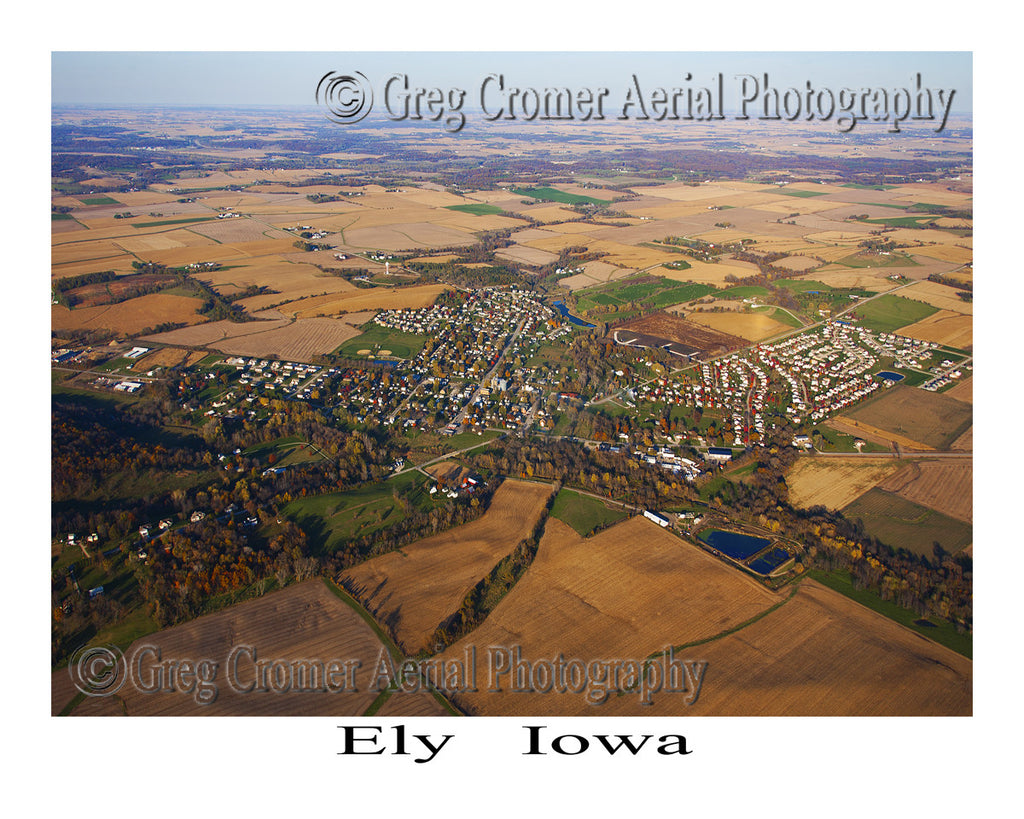 Aerial Photo of Ely Iowa