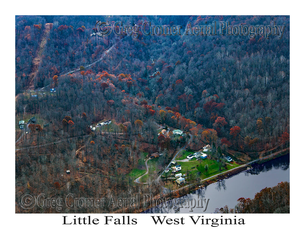 Aerial Photo of Little Falls, West Virginia