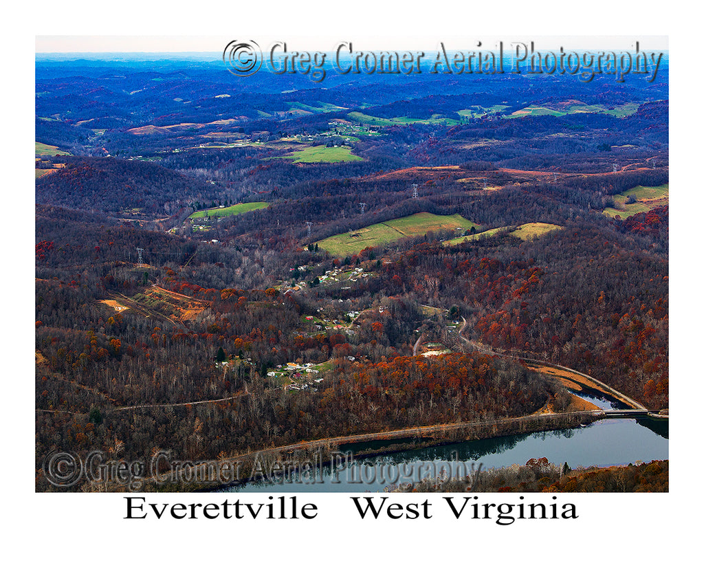 Aerial Photo of Everettville, West Virginia