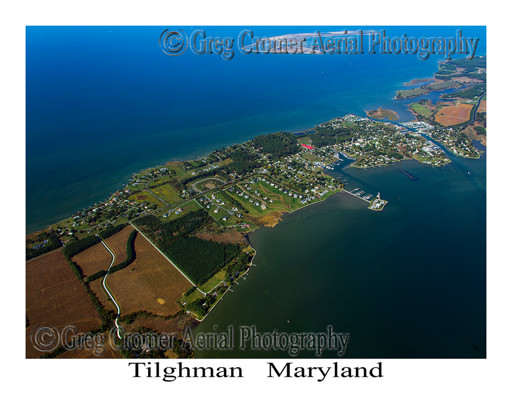 Aerial Photo of Tilghman, Maryland