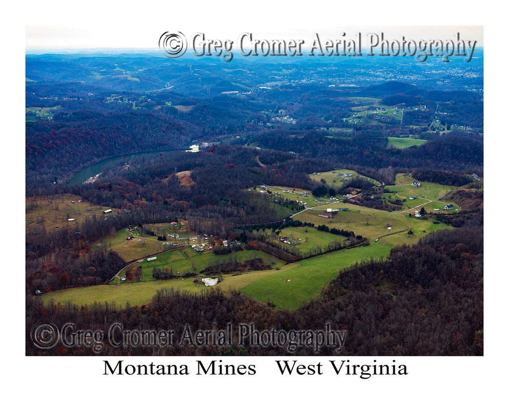 Aerial Photo of Montana Mines, West Virginia