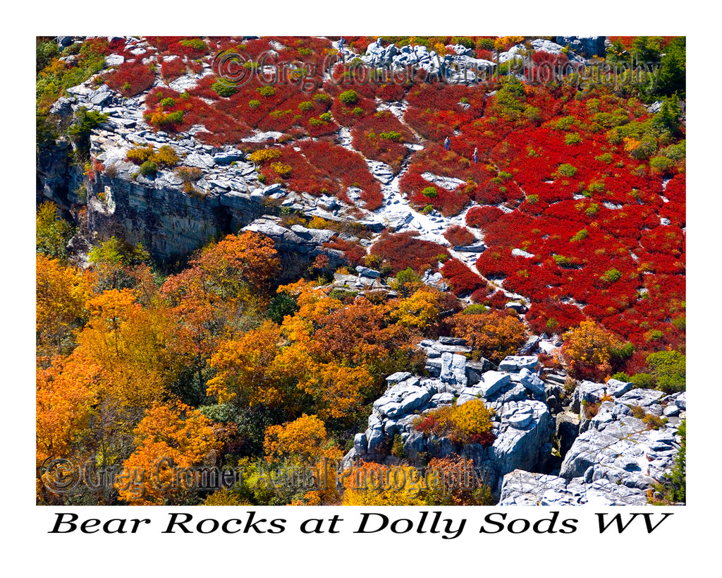 Aerial Photo of Bear Rocks - Dolly Sods, West Virginia