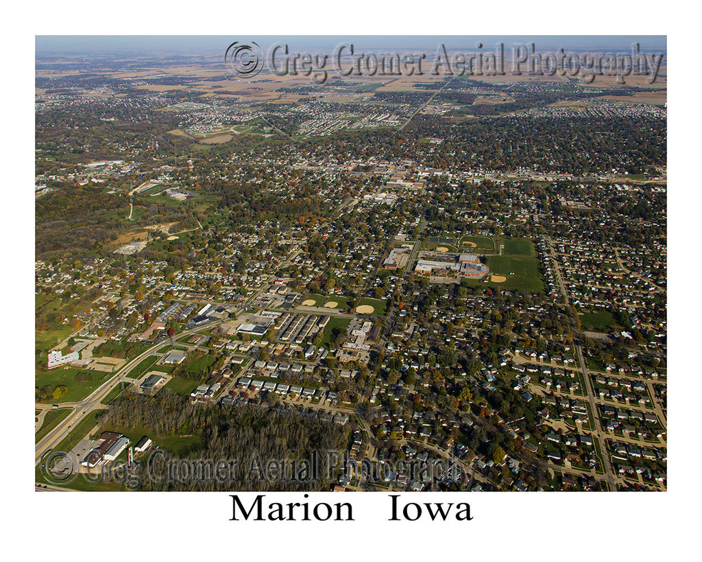 Aerial Photo of Marion Iowa
