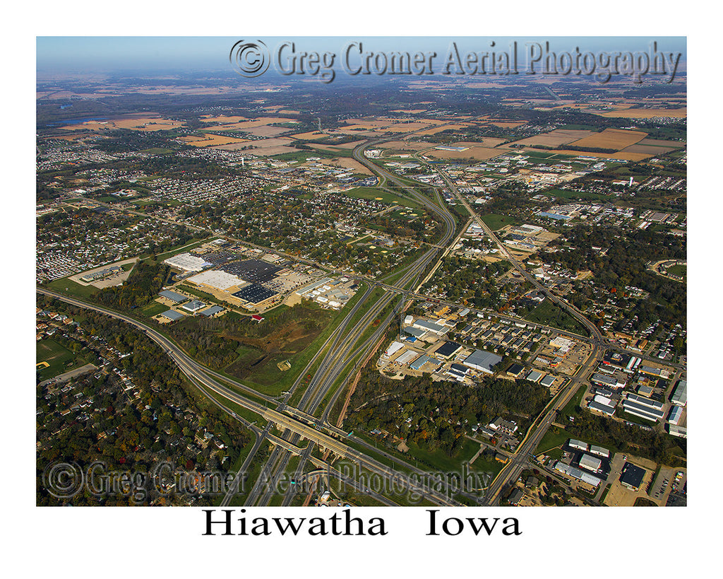 Aerial Photo of Hiawatha Iowa