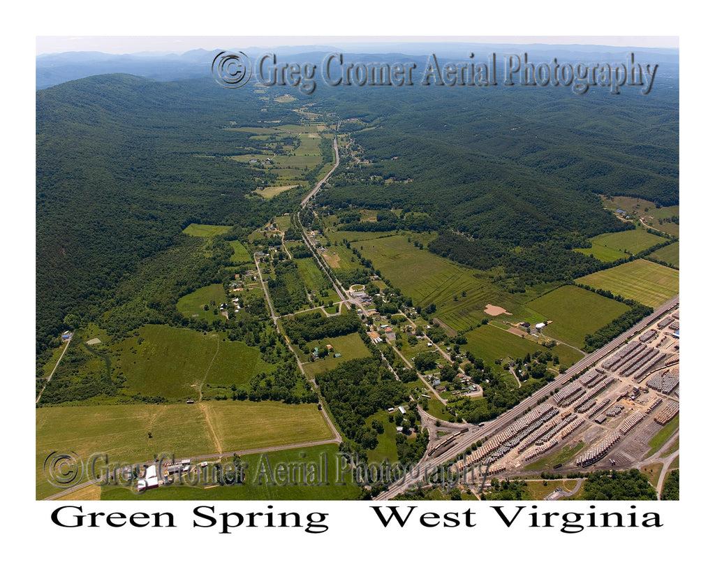 Aerial Photo of Green Spring, West Virginia