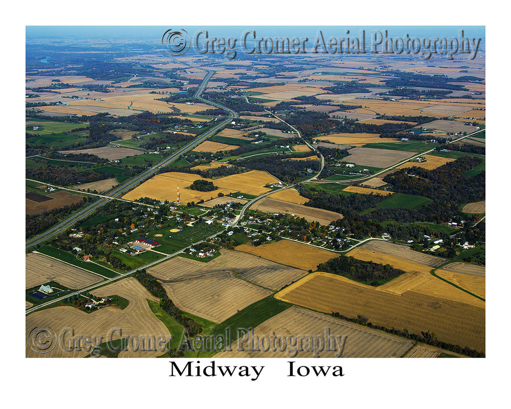 Aerial Photo of Midway Iowa