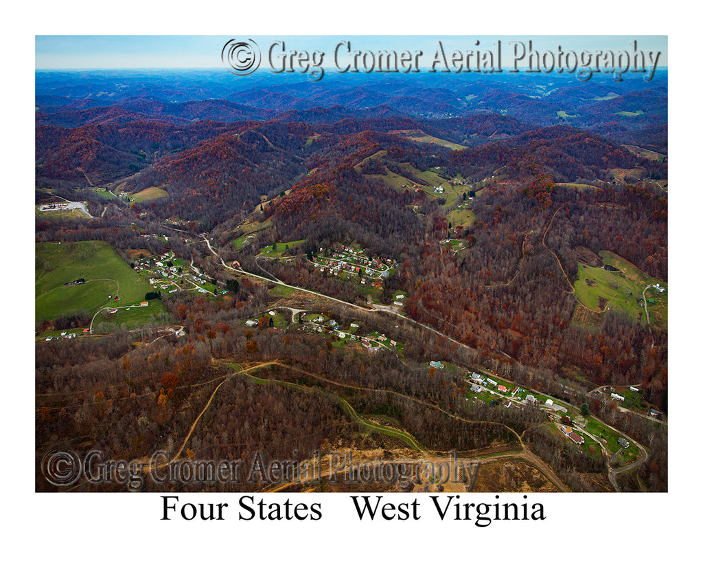 Aerial Photo of Four States, West Virginia