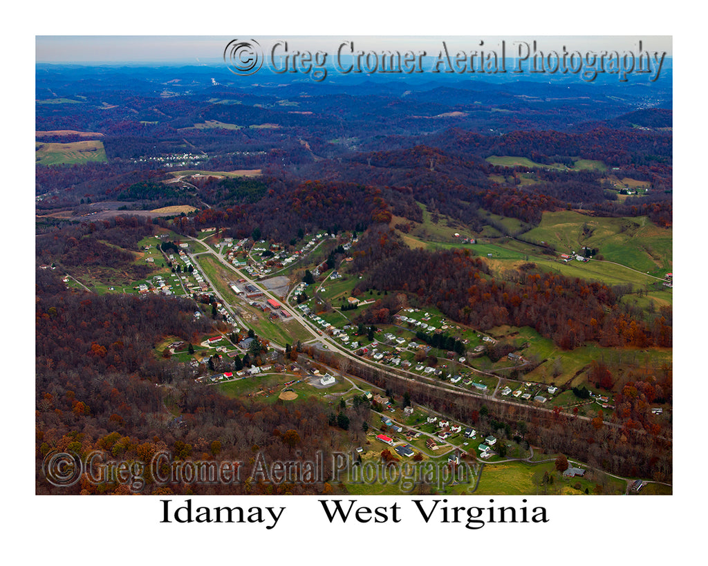 Aerial Photo of Idamay, West Virginia