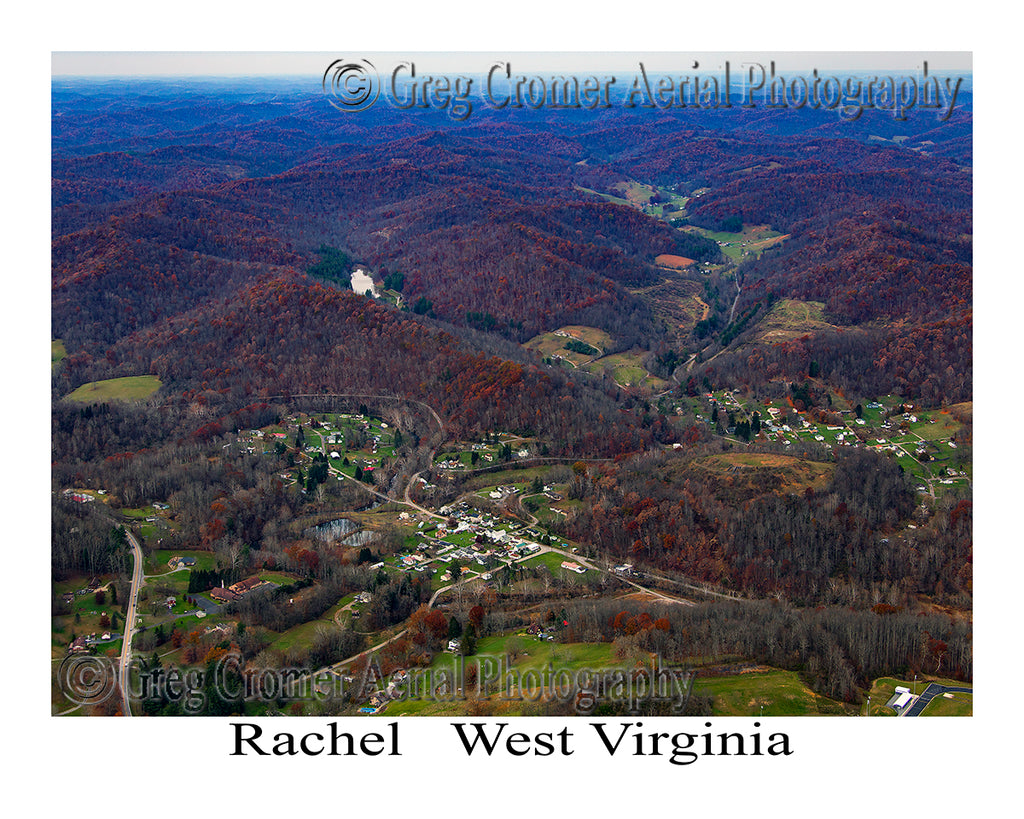 Aerial Photo of Rachel, West Virginia