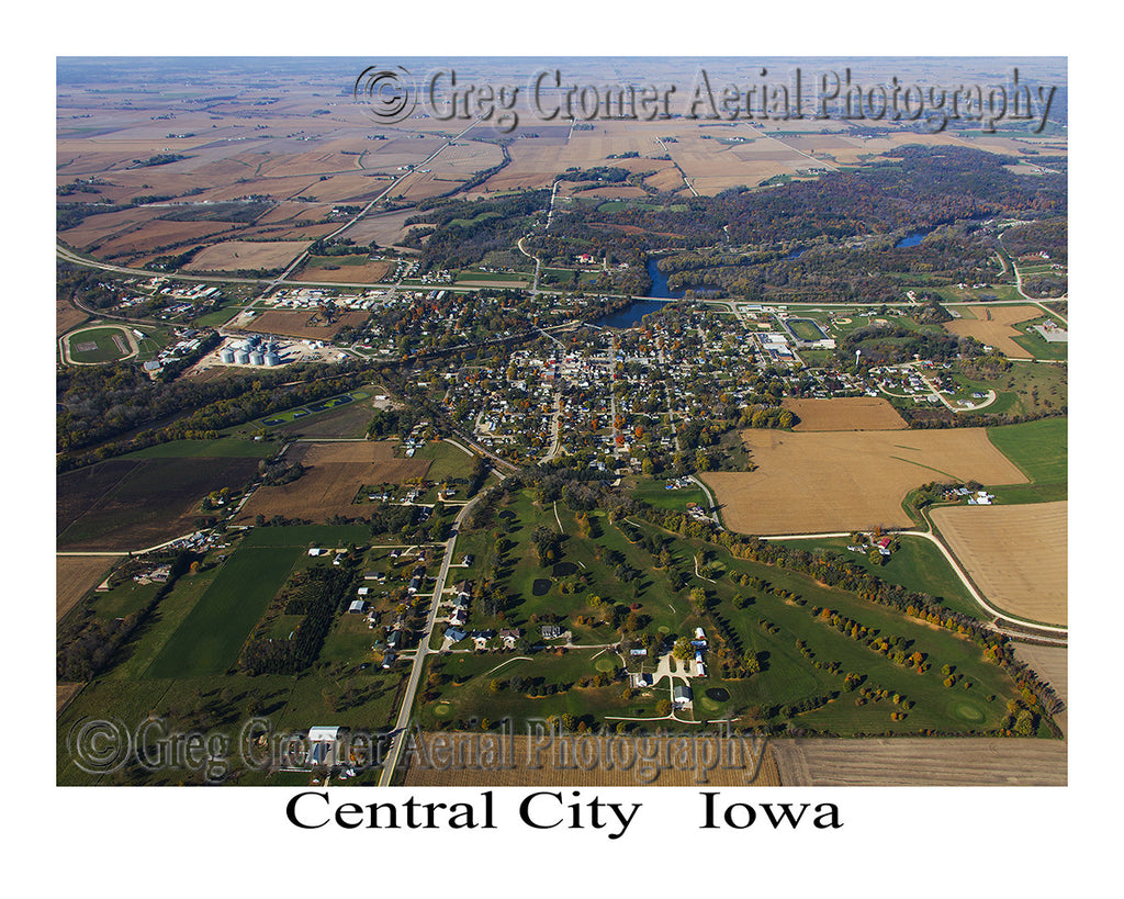 Aerial Photo of Central City Iowa
