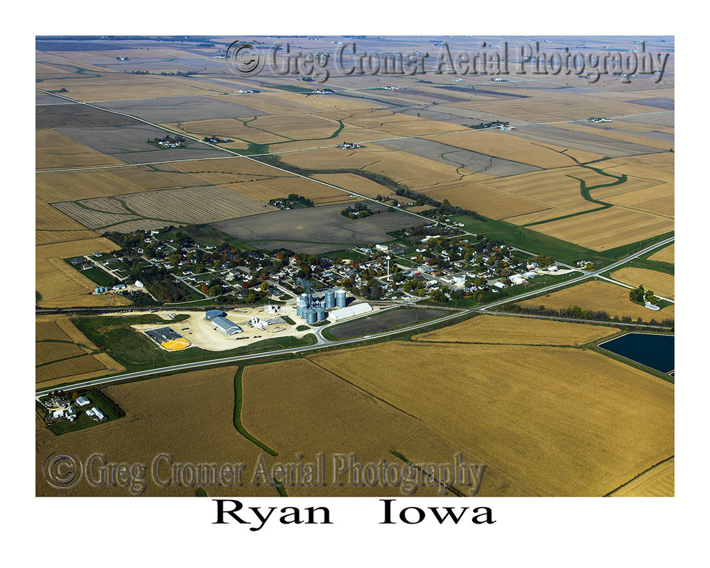 Aerial Photo of Ryan Iowa