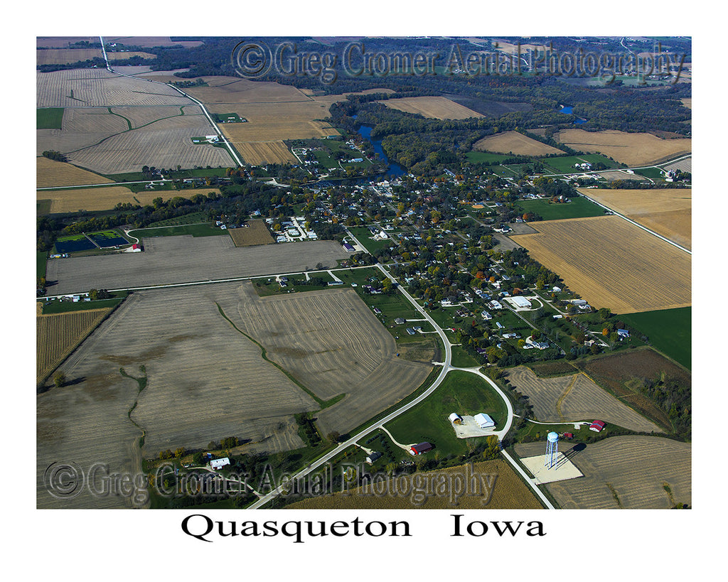 Aerial Photo of Quasqueton Iowa