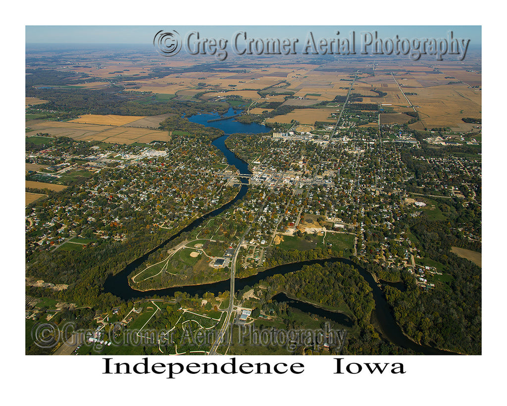 Aerial Photo of Independence Iowa