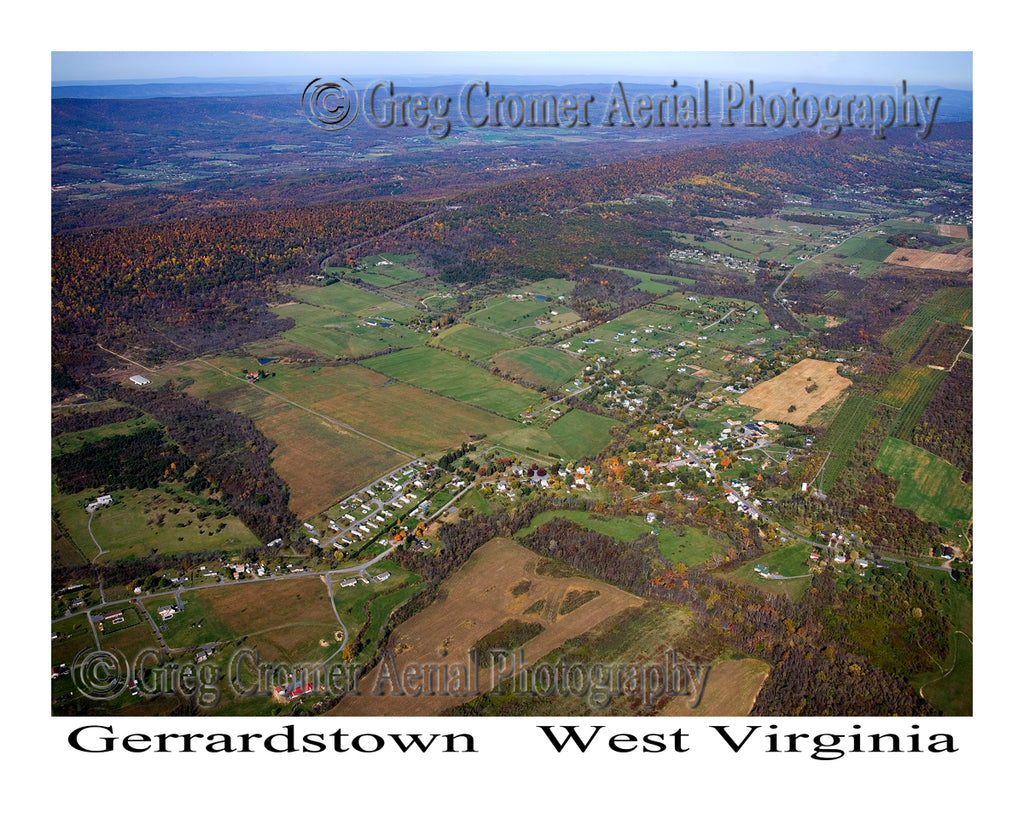 Aerial Photo of Gerrardstown, West Virginia