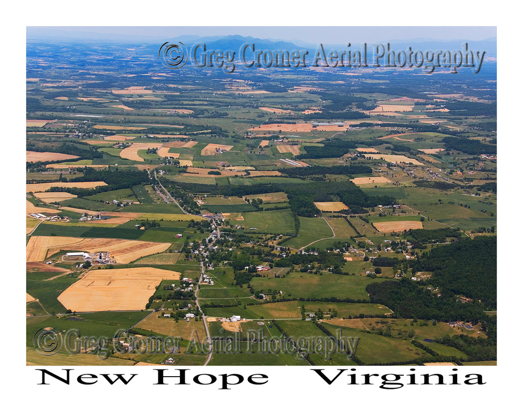Aerial Photo of New Hope, Virginia