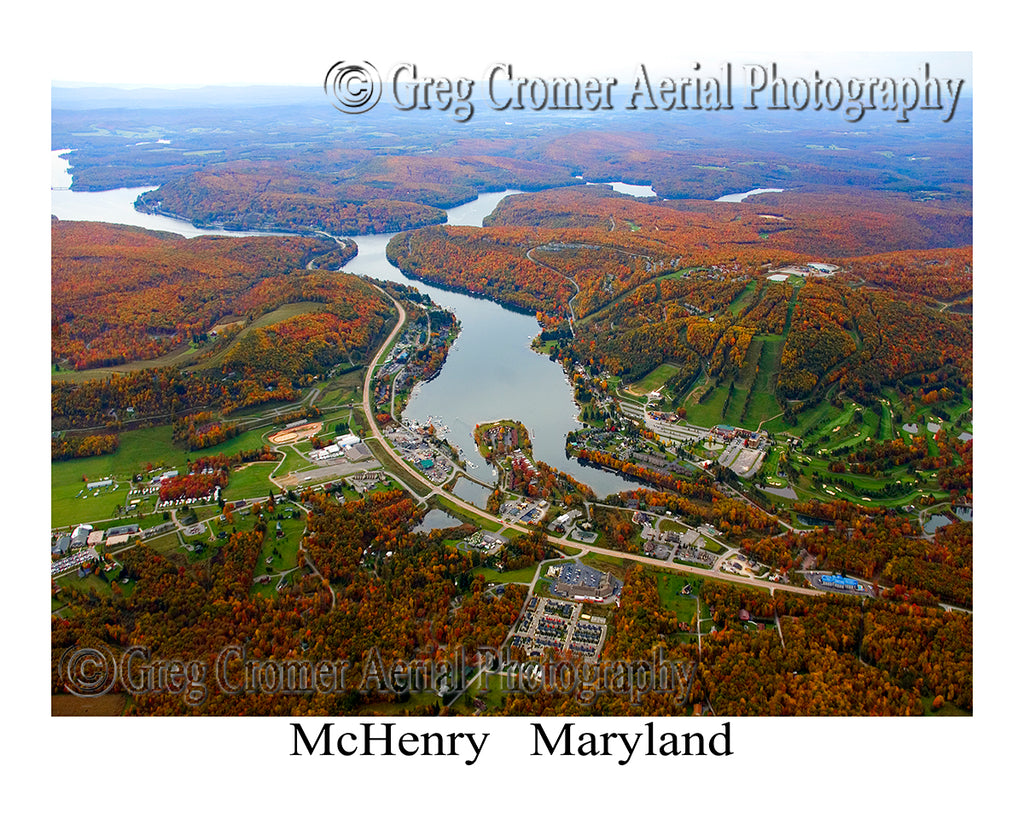 Aerial Photo of McHenry, Maryland