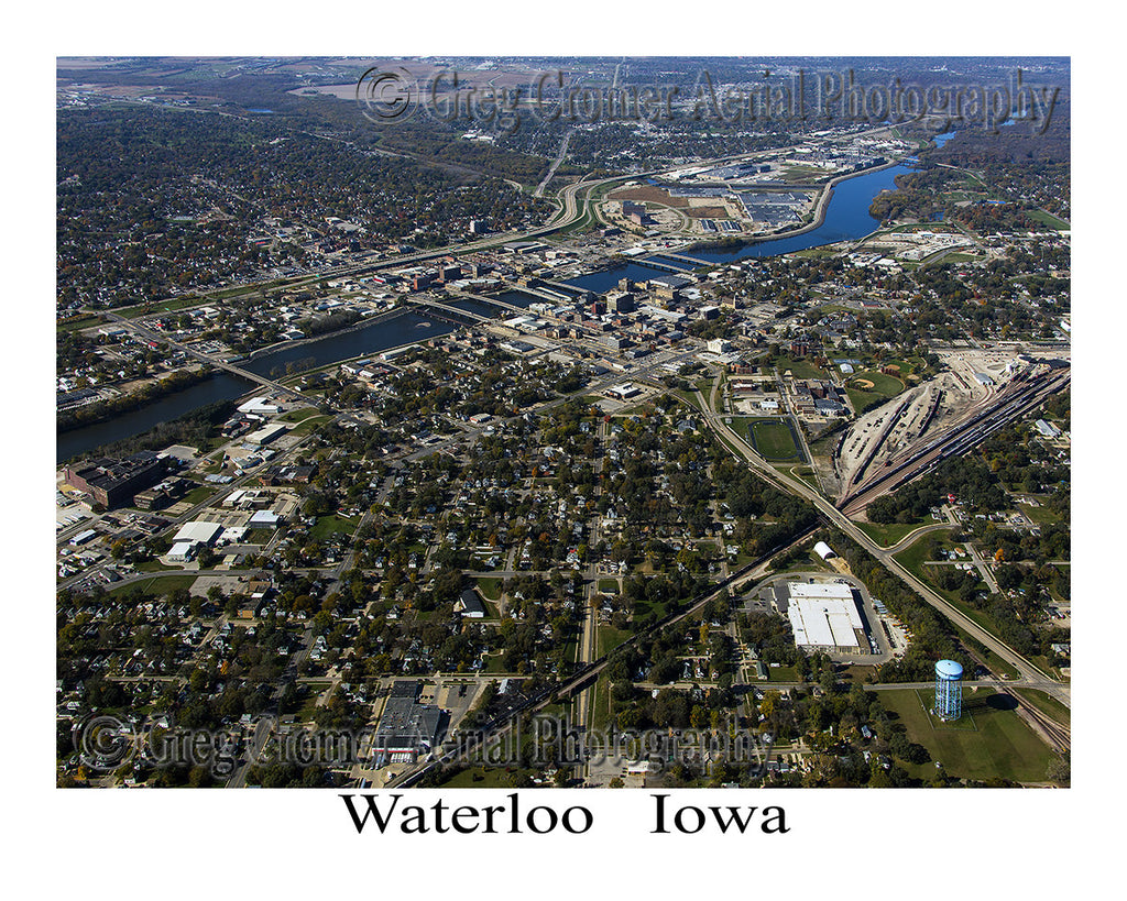 Aerial Photo of Waterloo Iowa