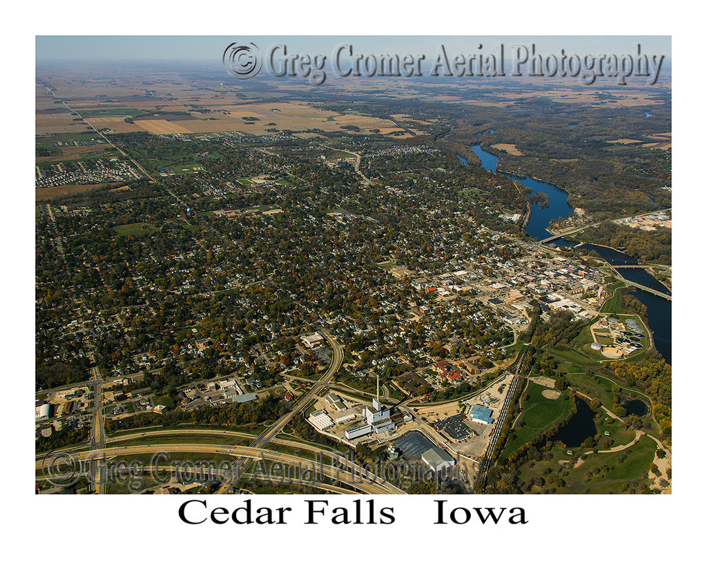 Aerial Photo of Cedar Falls Iowa
